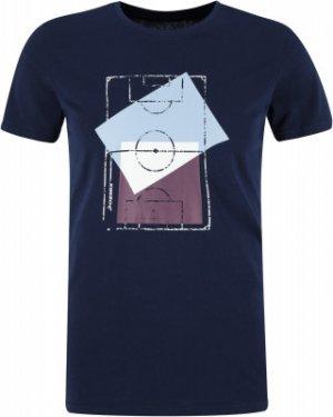 Футболка мужская , размер 50 Demix. Цвет: синий