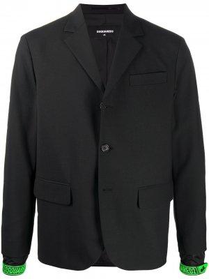 Пиджак с логотипом Dsquared2. Цвет: черный