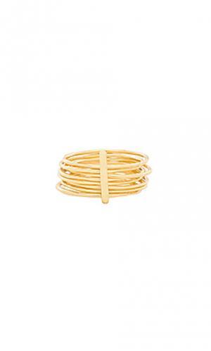 Кольцо josey gorjana. Цвет: металлический золотой