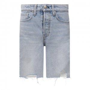Джинсовые шорты Rag&Bone. Цвет: голубой
