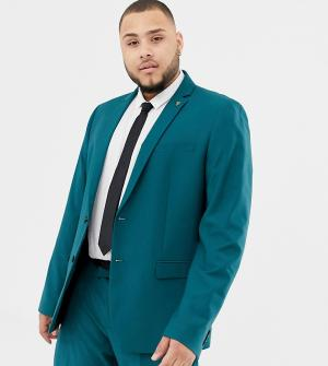 Сине-зеленый пиджак зауженного кроя Farah Henderson-Зеленый цвет Smart