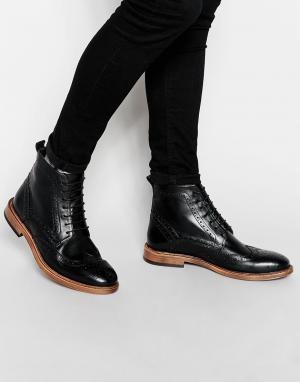 Ботинки-броги KG by Kurt Geiger. Цвет: черный