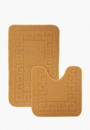 Комплект ковриков Эго 50х80 см, 50х50 см. Цвет: желтый
