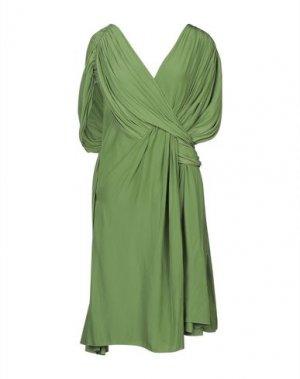 Короткое платье LANVIN. Цвет: зеленый