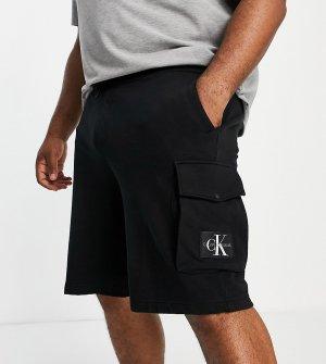 Черные джинсовые шорты классического кроя Big & Tall-Черный цвет Calvin Klein Jeans