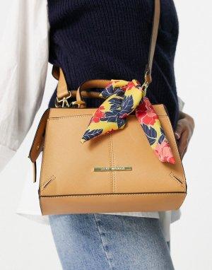 Светло-коричневая сумка через плечо с шарфиком Reese-Коричневый цвет Steve Madden