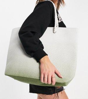 Пляжная сумка мятного цвета с эффектом омбре -Зеленый цвет South Beach
