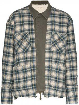 Куртка-рубашка в клетку Greg Lauren. Цвет: синий