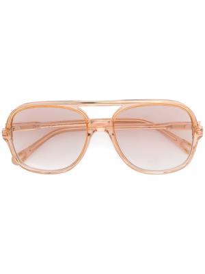 Солнцезащитные очки-авиаторы Chloé Eyewear. Цвет: телесный