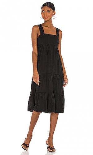 Платье миди mitzi Amanda Uprichard. Цвет: черный