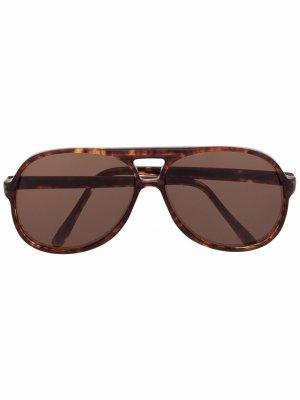 Солнцезащитные очки-авиаторы 1970-х годов Givenchy Pre-Owned. Цвет: коричневый