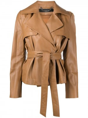 Куртка с поясом Federica Tosi. Цвет: коричневый