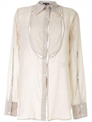 Приталенная рубашка с длинными рукавами Ann Demeulemeester. Цвет: серый