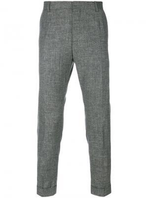 Классические укороченные брюки Calvin Klein. Цвет: серый