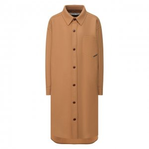 Шерстяное пальто Alexander Wang. Цвет: коричневый