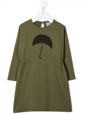 Платье мини с принтом Bobo Choses. Цвет: зеленый
