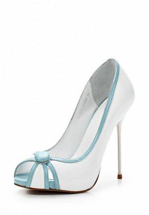 Туфли Basic BA009AWAAO06. Цвет: белый