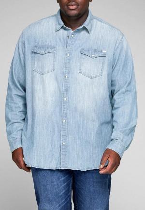 Рубашка джинсовая Jack & Jones. Цвет: голубой