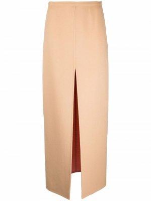 Юбка макси с разрезом Emilio Pucci. Цвет: нейтральные цвета
