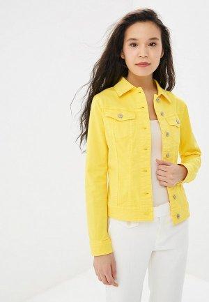 Куртка джинсовая United Colors of Benetton. Цвет: желтый