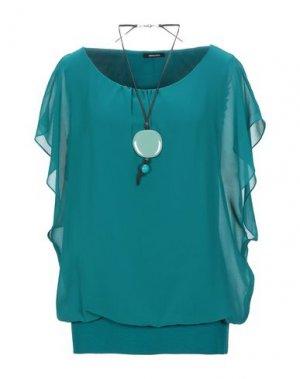 Блузка ELENA MIRO'. Цвет: цвет морской волны