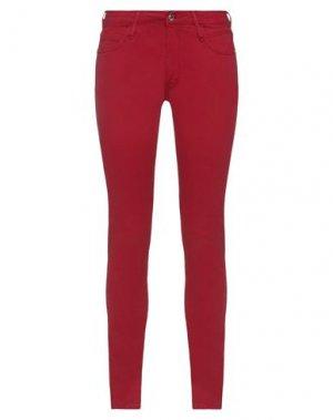 Джинсовые брюки FORNARINA. Цвет: красный
