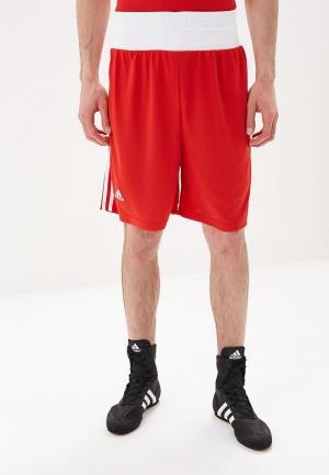 Шорты спортивные adidas Combat Boxing Short Punch Line. Цвет: красный