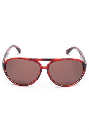 Очки солнцезащитные Salvatore Ferragamo. Цвет: красный