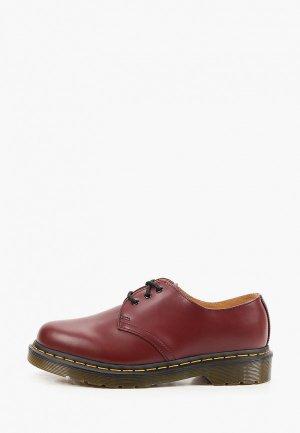 Ботинки Dr. Martens 1461 SMOOTH. Цвет: бордовый