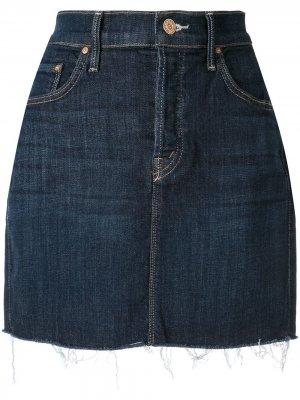 Короткая джинсовая юбка Mother. Цвет: синий