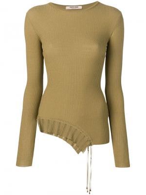 Пуловер асимметричного кроя Roberto Cavalli. Цвет: 04384