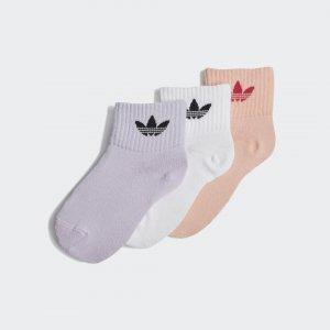 Три пары носков Mid-Ankle Originals adidas. Цвет: белый