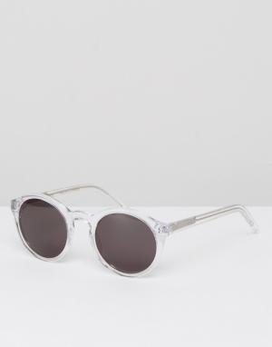 Круглые солнцезащитные очки в прозрачной оправе Barstow Monokel Eyewear. Цвет: очистить