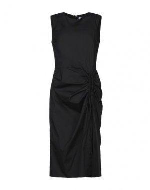Платье длиной 3/4 CAROLINA HERRERA. Цвет: черный