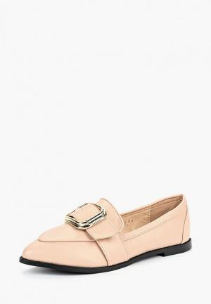 Лоферы LOST INK WF ORLA BUCKLE LOAFER. Цвет: розовый