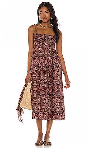 Платье миди willow Solid & Striped. Цвет: коричневый