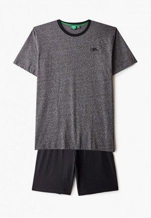 Пижама D555. Цвет: разноцветный