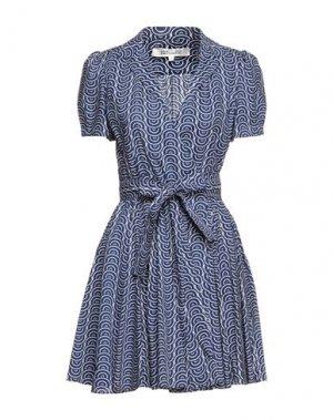 Короткое платье DIANE VON FURSTENBERG. Цвет: темно-синий