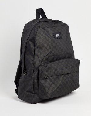 Черно-серый рюкзак в шахматную клетку Old Skool-Черный цвет Vans