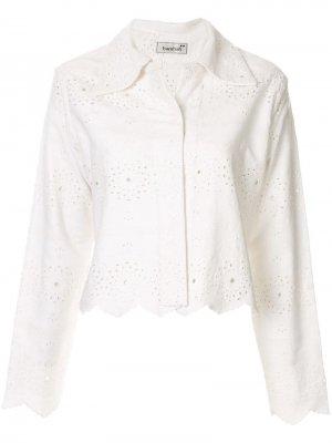 Джинсовая куртка Victoria Bambah. Цвет: белый