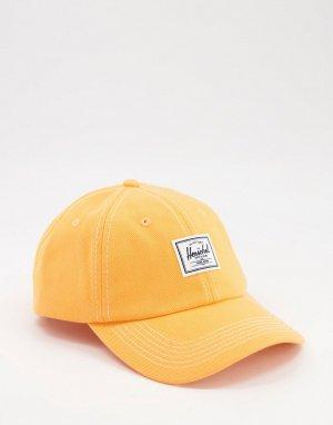 Оранжевая кепка из денима . Sylas-Оранжевый цвет Herschel Supply Co