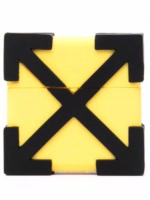 Чехол для AirPods с логотипом Arrows Off-White. Цвет: желтый