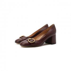 Кожаные туфли Pamela Gianvito Rossi. Цвет: бордовый