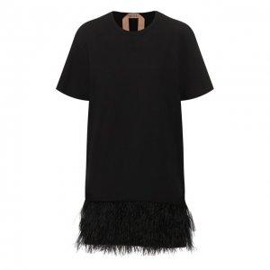 Хлопковое платье No. 21. Цвет: чёрный
