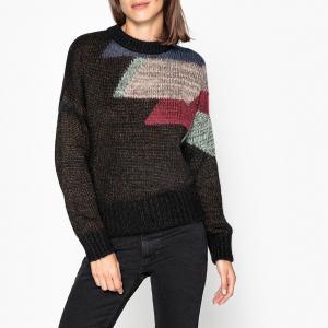 Пуловер с круглым вырезом из тонкого трикотажа AURORE BA&SH. Цвет: антрацит