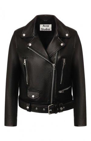 Кожаная куртка Acne Studios. Цвет: чёрный