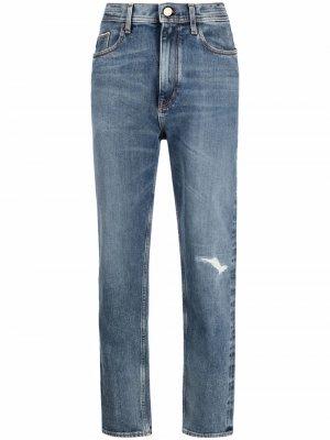 Прямые джинсы с эффектом потертости Jacob Cohen. Цвет: синий
