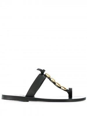 Сандалии Iris с ракушками Ancient Greek Sandals. Цвет: черный