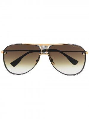Солнцезащитные очки-авиаторы Decade-Two Dita Eyewear. Цвет: черный