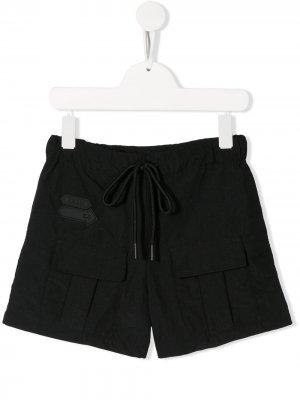 Спортивные шорты с кулиской Cinzia Araia Kids. Цвет: черный